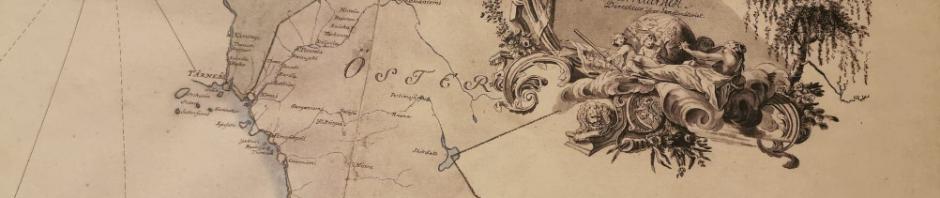 """Ruotsin vallan virallinen kartta vuodelta 1775 jossa """"Kusamo Lappmark """"saamelaisalue. Karttoja myynnissä Kuusamossa."""